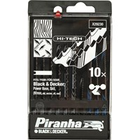 Black & Decker X29230 Piranha 10 Piece Hi Tech Metal & Wood HCS / HSS U Shank Jigsaw Blade Set