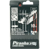 Black & Decker X29240 Piranha 10 Piece Hi Tech Metal & Wood HCS / HSS T Shank Jigsaw Blade Set