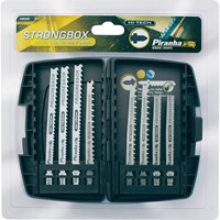 Black & Decker X88300 Piranha 8 Piece Hi Tech Metal & Wood T Shank Jigsaw Blade Set