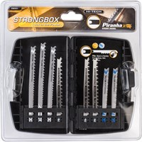 Black & Decker X88301 Piranha 8 Piece Hi Tech General Purpose U Shank Jigsaw Blade Set