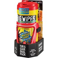 Big Wipes Red Top Heavy-Duty Wipes Tub Of 80+25% inc Van Wall Bracket