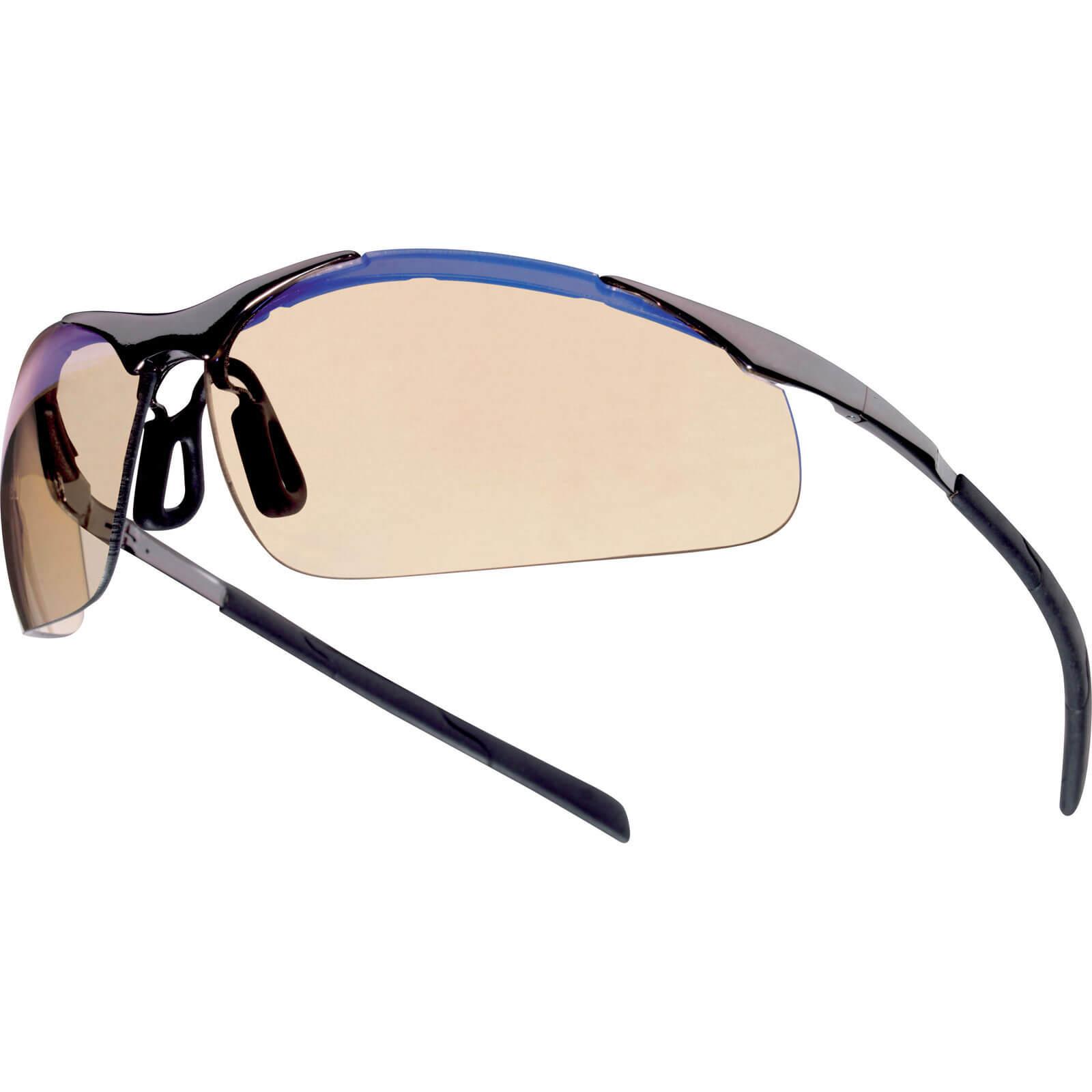 pouch Bolle Contour Safety Glasses Smoke Lens Anti-scratch Anti-fog Anti-static