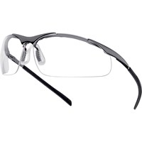 Bolle Contour CONTMPSI Anti Scratch and Anti Fog Metal Frame Clear Safety Glasses