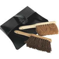 Sealey 3 Piece Metal Dustpan & Brush Set