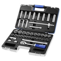 "Expert by Facom 42 Piece 1/2"" Drive Hex and Deep Hex Socket Set Metric"