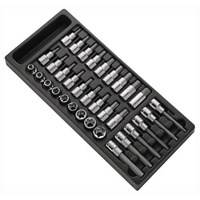 "Expert by Facom 33 Piece 1/2"" Drive Socket Bit Set in Module Tray"