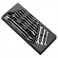 Britool Expert 11 Piece Open End Spanner Set in Module Tray