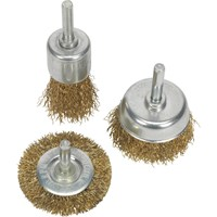 Sealey 3 Piece Brassed Wire Brush Set