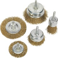 Sealey 5 Piece Brassed Wire Brush Set
