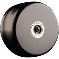Byron Wired Underdome Door Bell Black