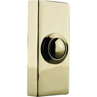 Byron Wired Door Bell Push Brass