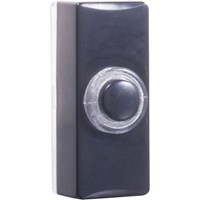 Byron Blaze Door Bell Push Black