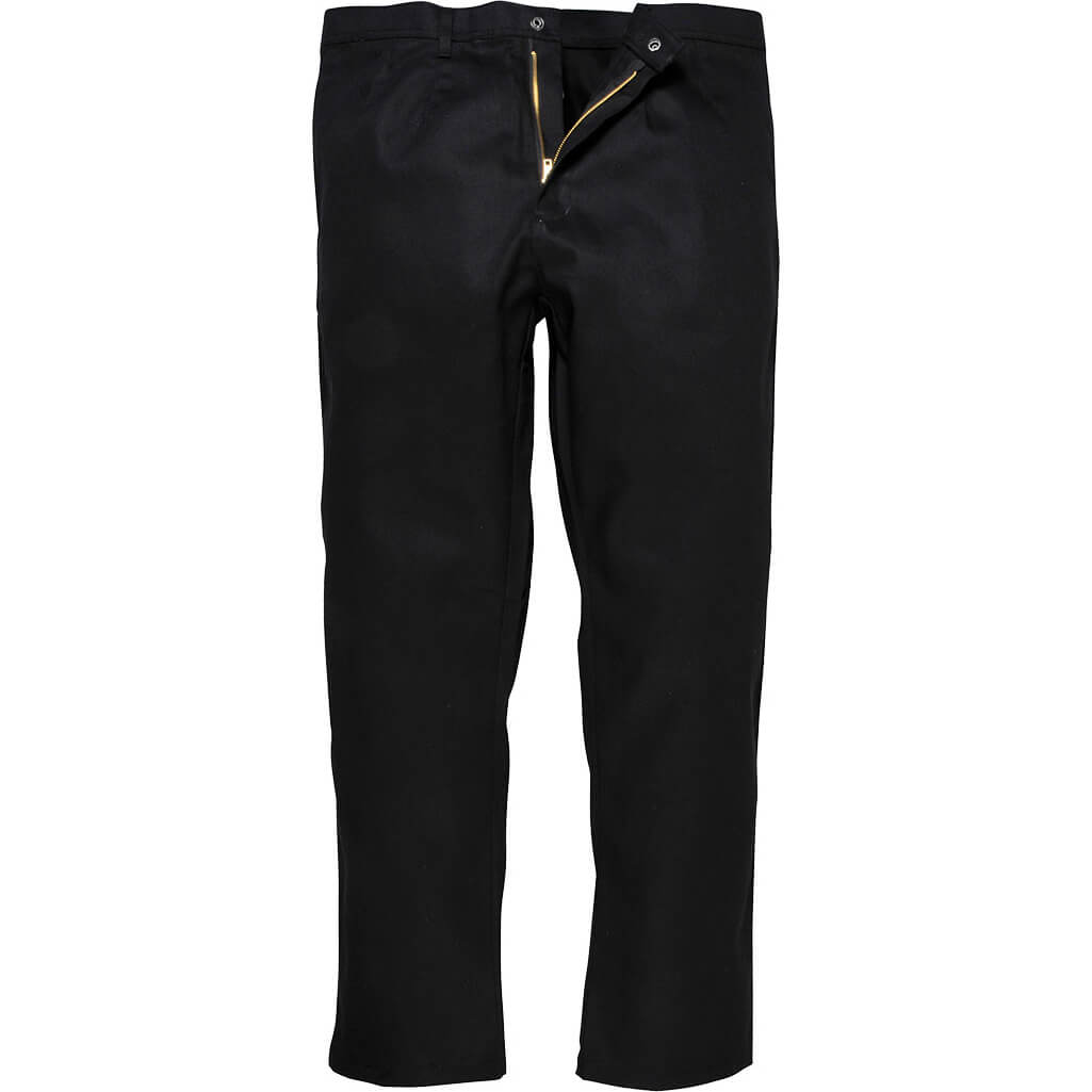 """Image of Biz Weld Mens Flame Resistant Trousers Black Small 32"""""""