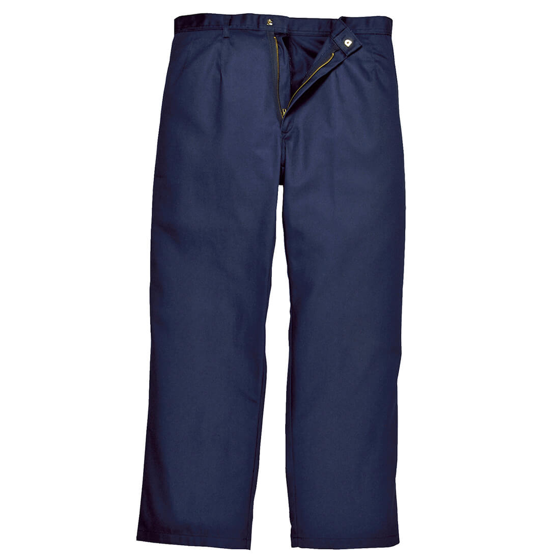 """Image of Biz Weld Mens Flame Resistant Trousers Navy Blue 2XL 32"""""""