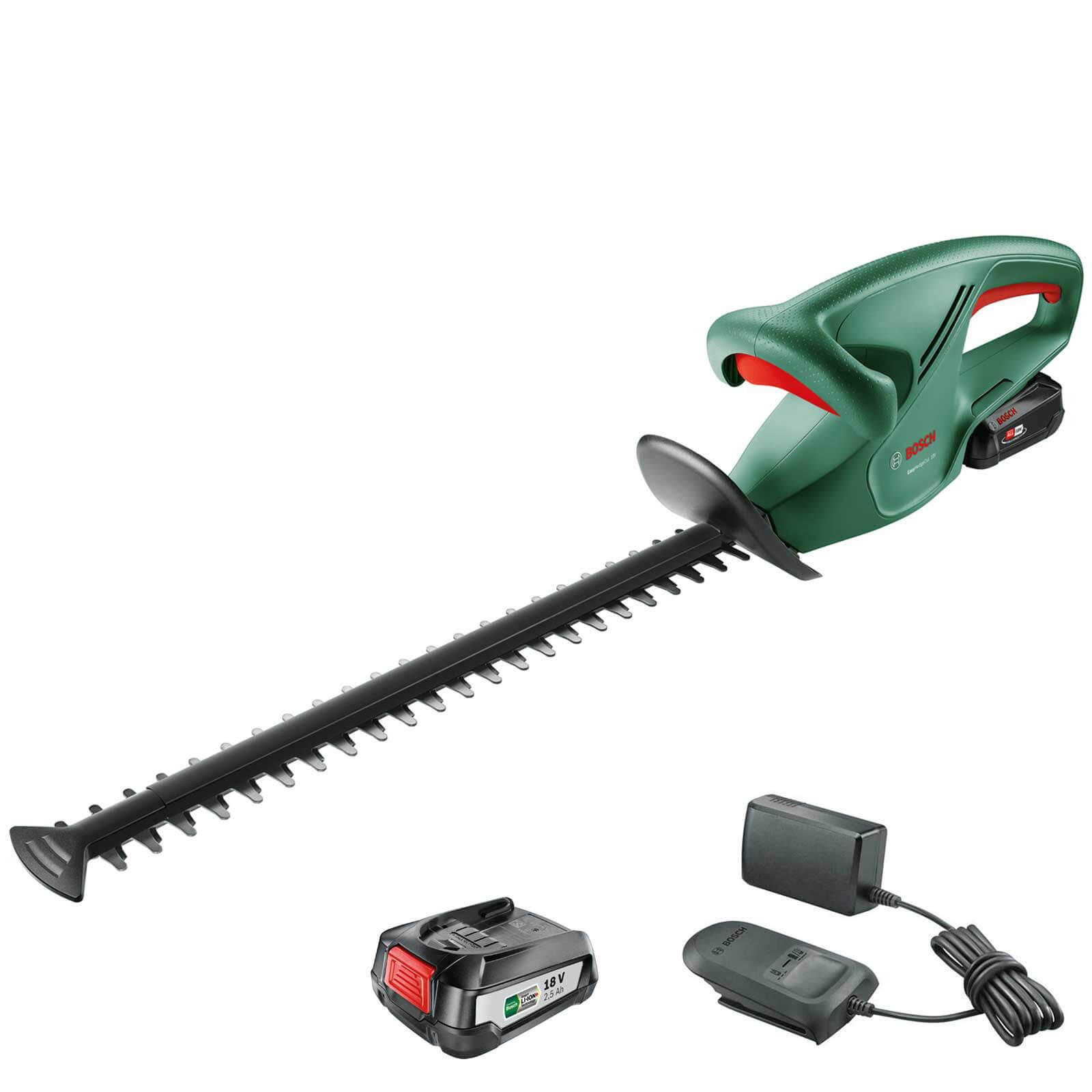 Bosch EASYHEDGECUT 18-45 18v Cordless Hedge Trimmer 450mm 2 x 2.5ah Li-ion Charger