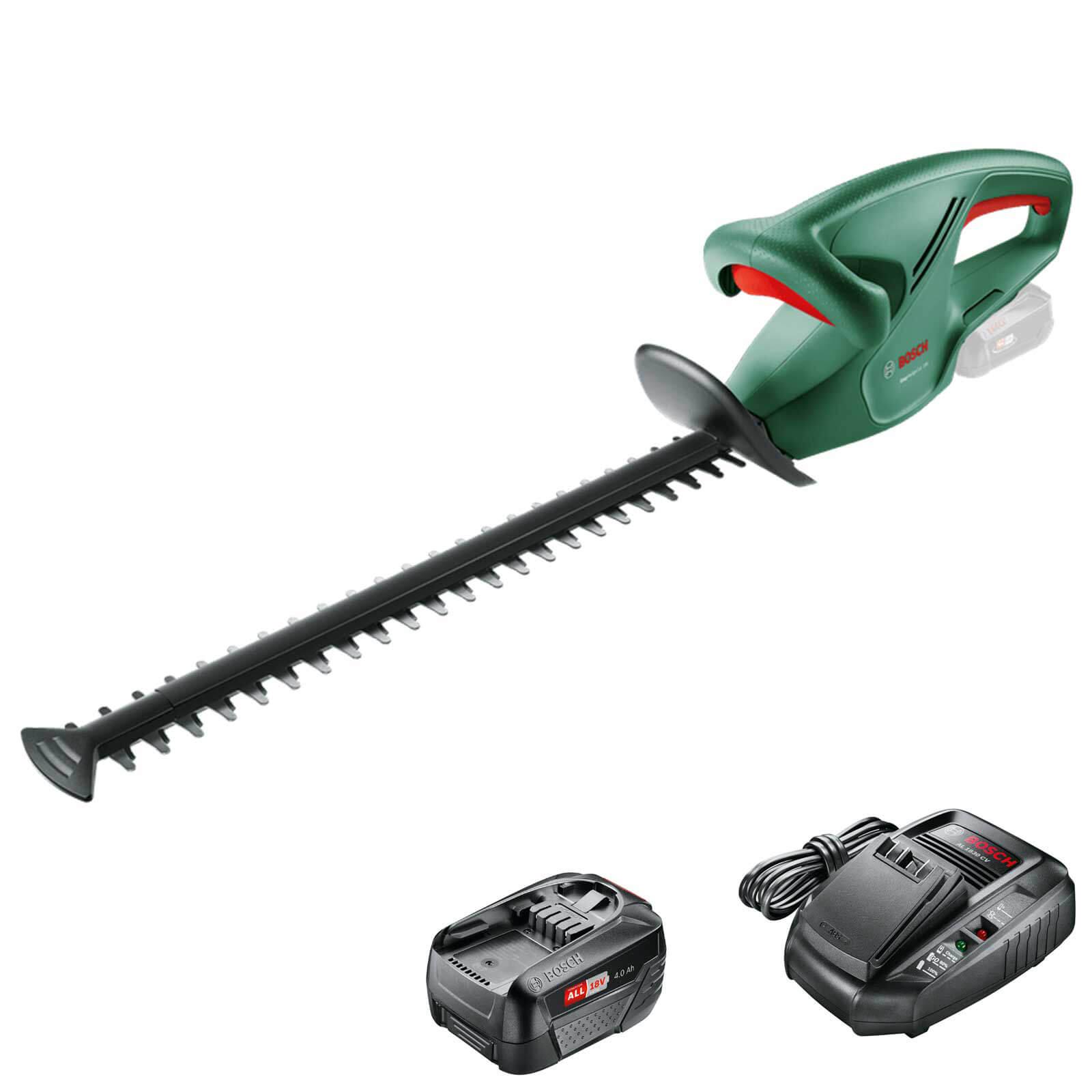 Bosch EASYHEDGECUT 18-45 18v Cordless Hedge Trimmer 450mm 1 x 4ah Li-ion Charger