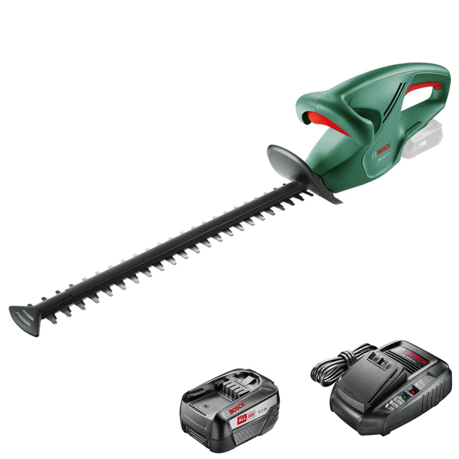 Bosch EASYHEDGECUT 18-45 18v Cordless Hedge Trimmer 450mm 1 x 6ah Li-ion Charger