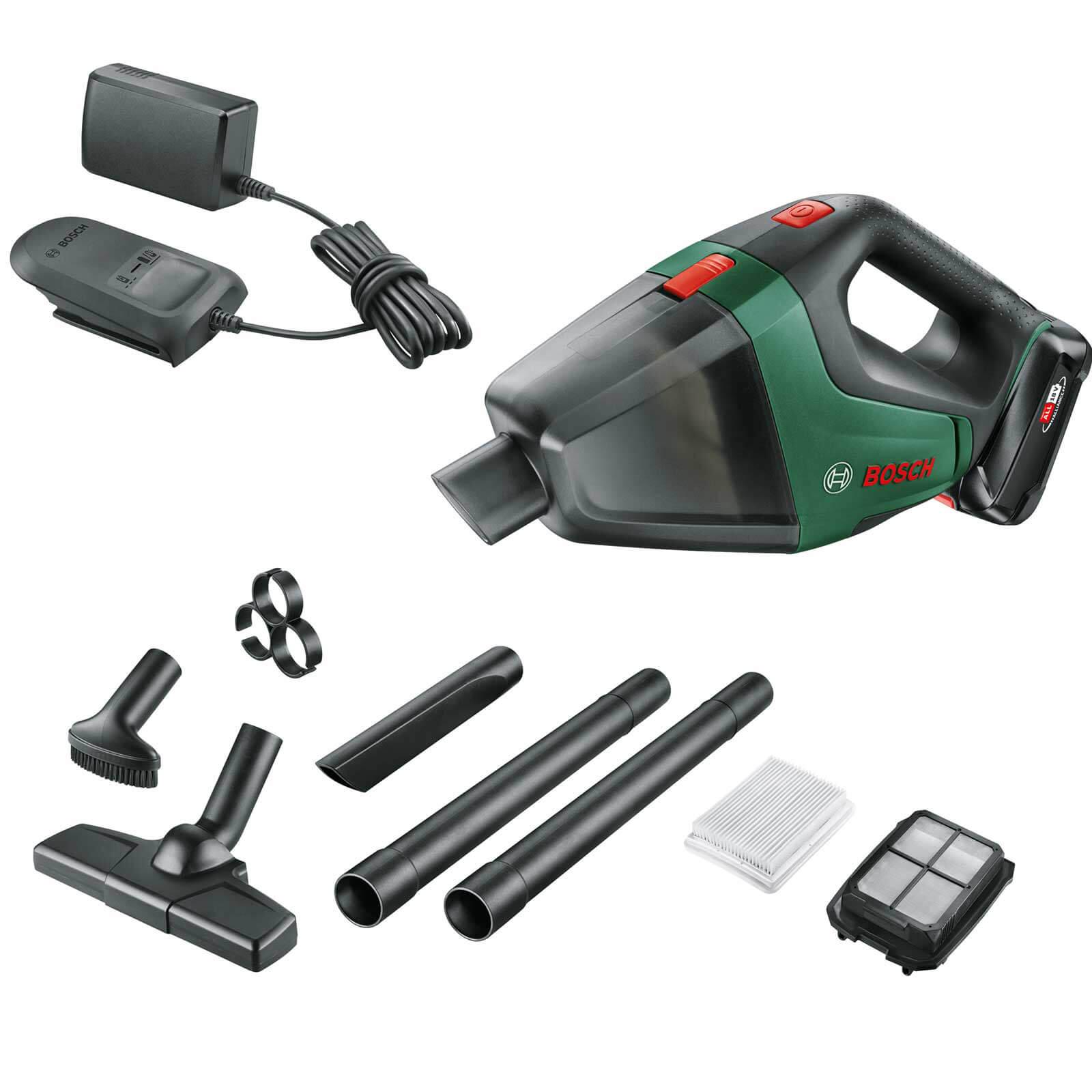 Bosch UNIVERSALVAC 18v Cordless Hand Vacuum Cleaner 1 x 1.5ah Li-ion Charger No Case
