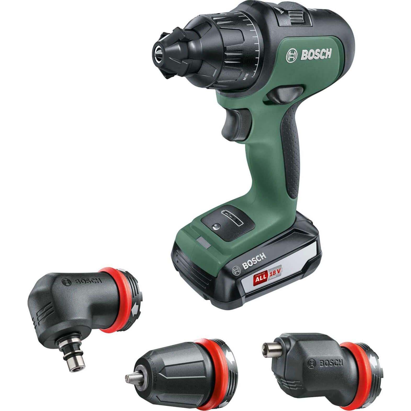 Bosch ADVANCEDIMPACT 18v Cordless Combi Drill + 3 Attachments