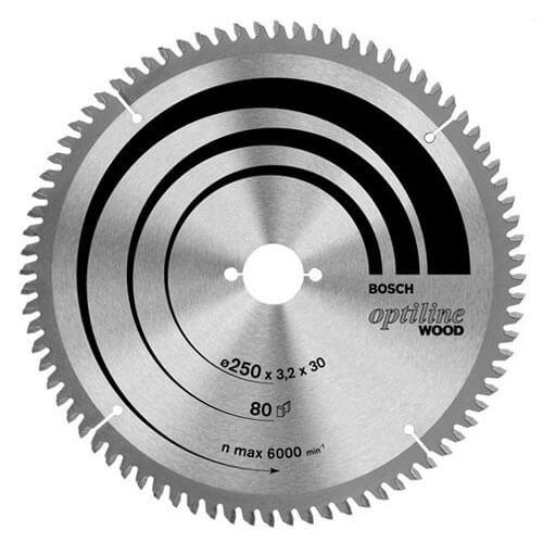 Bosch Optiline Wood Cutting Mitre Saw Blade 260mm 48T 30mm