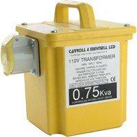 Carroll and Meynell 110v Portable Transformer 0.75Kva