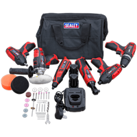 Sealey CP1200 12v Cordless 6 Piece Power Tool Kit