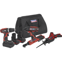Sealey CP1200 12v Cordless 4 Piece Power Tool Kit