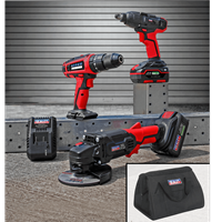 Sealey CP20V 20v Cordless 3 Piece Power Tool Kit