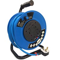 Sirius 4 Socket Cable Extension Reel 240v