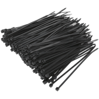 Sealey Black Cable Ties