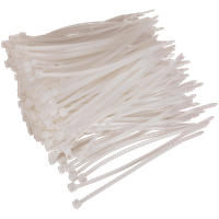 Sealey White Cable Ties