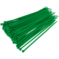 Sealey Cable Ties Green Pack of 100