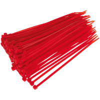 Sealey Cable Ties Red Pack of 100