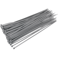 Sealey Cable Ties Silver Pack of 100