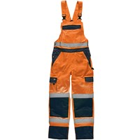 Dickies Mens High Vis Industry Bib & Brace