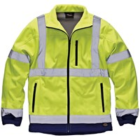 Dickies Mens High Vis Soft Shell Jacket