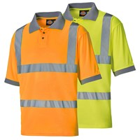Dickies Mens High Visibility Safety Polo Shirt