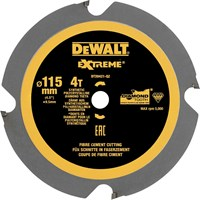 DeWalt 115mm PCD Fibre Cement Saw Blade For DCS571