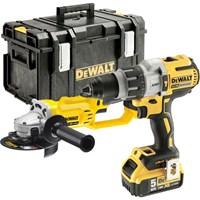 DeWalt DCK278P2 18v XR Brushless Combi Drill and Grinder