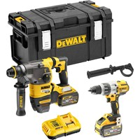 DeWalt DCK2033X2 54v XR Cordless Brushless FLEXVOLT SDS Hammer and Combi Drill Kit