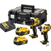 Dewalt DCK2062M2T 18V XR Cordless Brushless Compact Cordless Combi Drill and Impact Driver TSTAK Kit