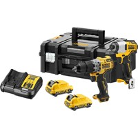 DeWalt DCK2111L2T 12v XR Cordless Brushless Combi Drill and Impact Driver Kit