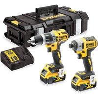DeWalt DCK2500 18v XR Cordless Brushless Tool Connect Combi Drill and Impact Driver