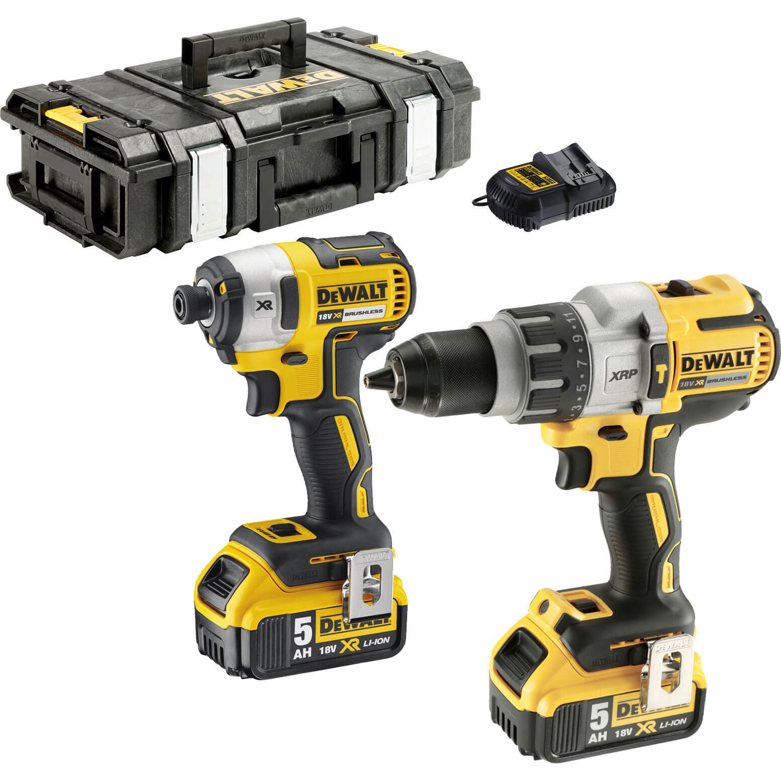 Dewalt Dck276 18v Xr Cordless Brushless Combi Drill And Impact Driver Combi Drills