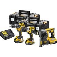 DeWalt DCK368P3T 18v XR Cordless 3 Piece Brushless Power Tool Kit