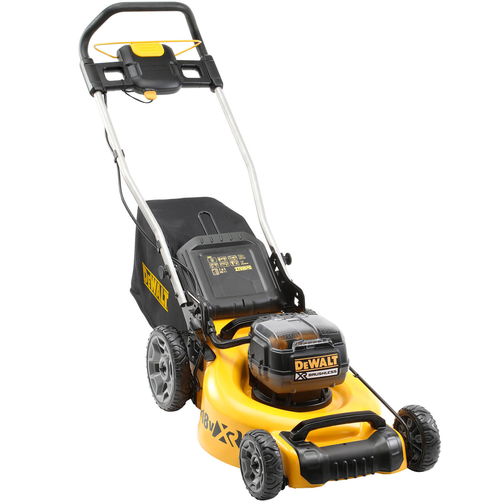 Image of DeWalt DCMW564 Twin 18v XR Cordless Brushless Lawnmower 2 x 5ah Li-ion Charger