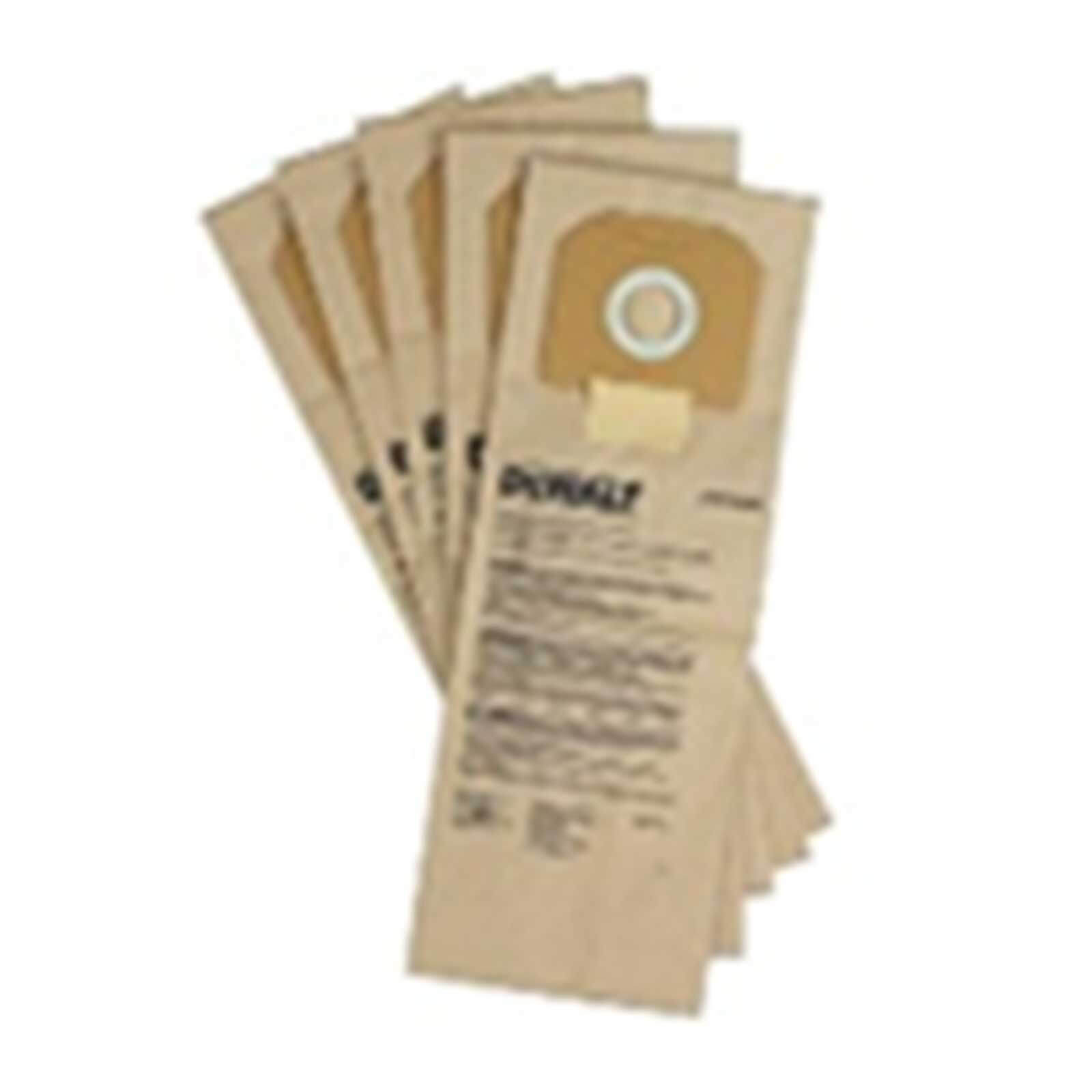 DeWalt Paper Bags For DCV586M Dust Extractor Pack of 5