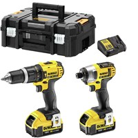 Dewalt DCZ285M2T 18v XR Cordless Combi Drill and Impact Driver TSTAK Kit