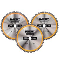 DeWalt 3 Piece 305mm Construction Circular Saw Blade Set