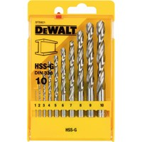 DeWalt 10 Piece HSS-G Metal Drill Bit Set